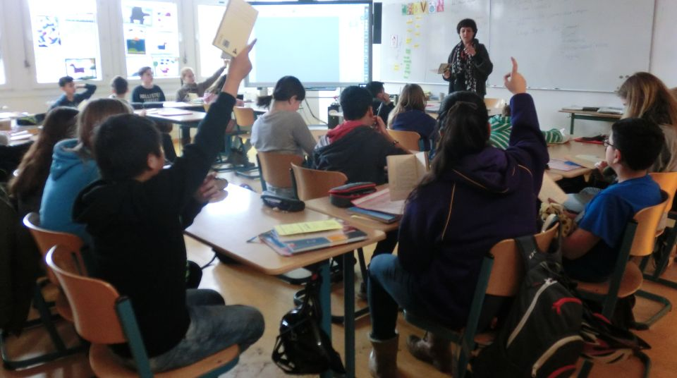 Rege Beteiligung im Grammatik-Unterricht